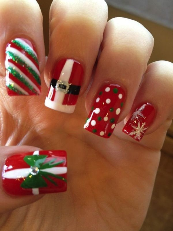 christmas,acrylic,nails,i,like,the,red,white,and,green,strip